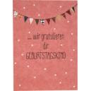 """Postkarte """"wir gratulieren Dir Geburtstagskind"""" von ava&yves"""