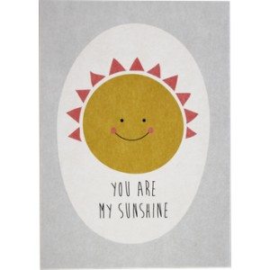 "ava&yves Postkarte ""you are my sunshine"""