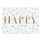 Postkarte Happy von Krima & Isa