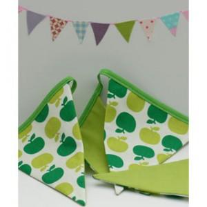 Wimpelkette Äpfel grün