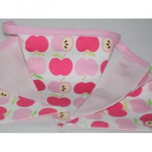 Wimpelkette Äpfel rosa