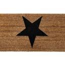 Fußmatte Stern - schwarz