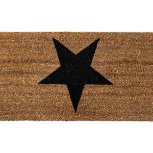 Bloomingville Fußmatte Stern schwarz