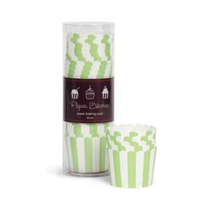 Paper Eskimo Cupcake Förmchen apfelgrün gestreift