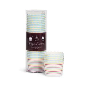 Paper Eskimo Cupcake Förmchen bunt gestreift