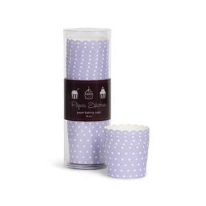 Paper Eskimo Cupcake Förmchen lila/weiss gepunktet