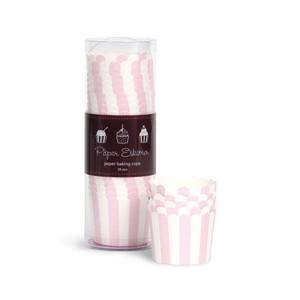 Paper Eskimo Cupcake Förmchen rosa gestreift (breit)