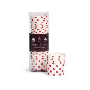 Paper Eskimo Cupcake Förmchen weiss/rot gepunktet