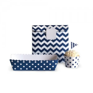 Paper Eskimo Decor-Set blau
