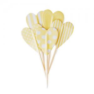 Paper Eskimo Cupcake Topper Herz lemon