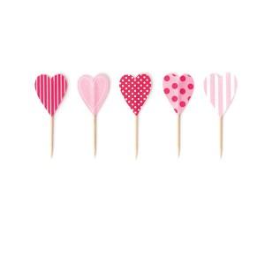 Paper Eskimo Cupcake Topper Herz pink