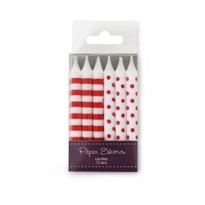 Geburtstags-Kerzen rot von Paper Eskimo