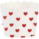 Miss Etoile Cupcake Fröschen weiß mit roten Herzen