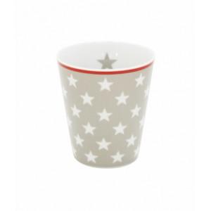 Happy Mug Sterne taupe von Krasilnikoff