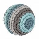 Sebra Rassel Häkel-Ball pastell - groß