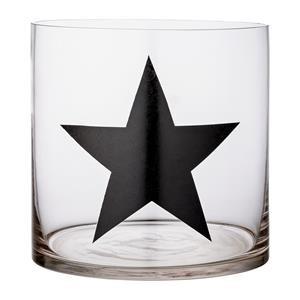 Bloomingville Windlicht  Glas mit Stern