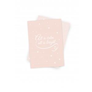 """Weihnachtskarte """"all is calm, all is bright"""" (rose) von Mimirella"""